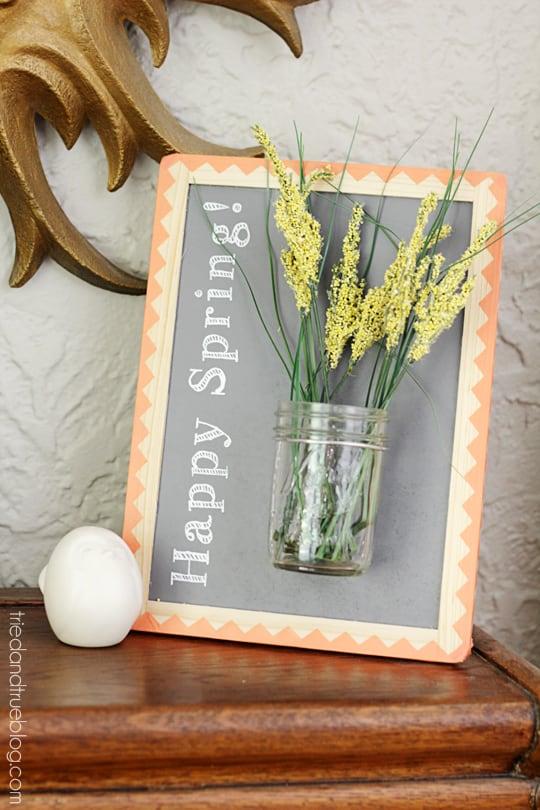 Hello Spring Framed Vase - Easy decoration for Spring!