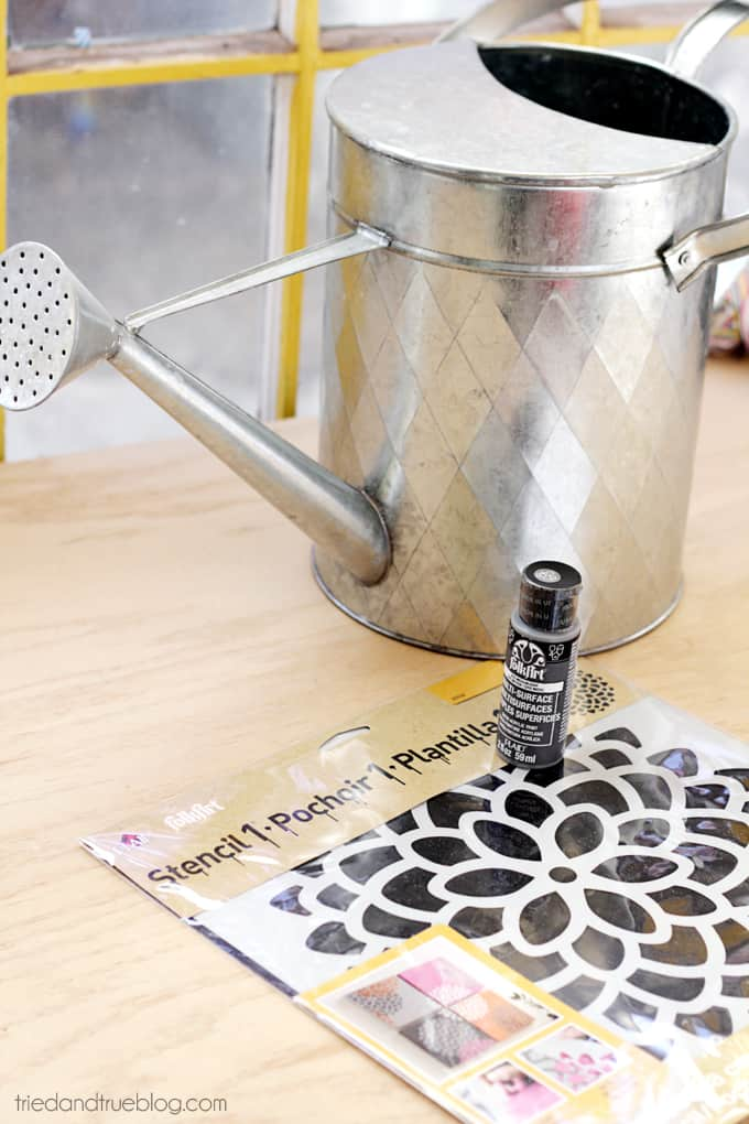 Decorated Spring Watering Can - Supplies