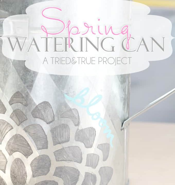Decorated Spring Watering Can - A Tried & True Project