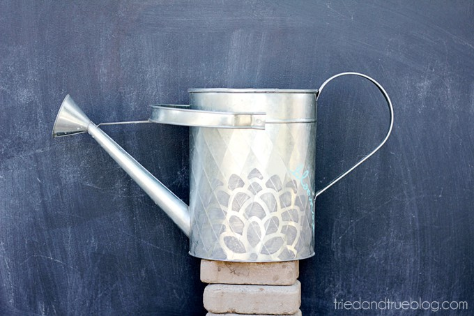 Decorated Spring Watering Can - Ready for Spring!
