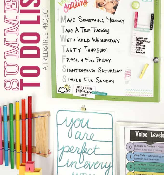 Summer To Do List - A Tried & True Project