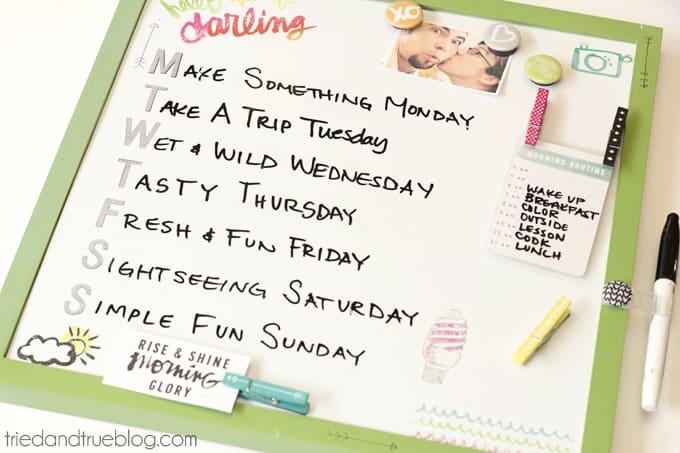 Summer To Do List - Schedule