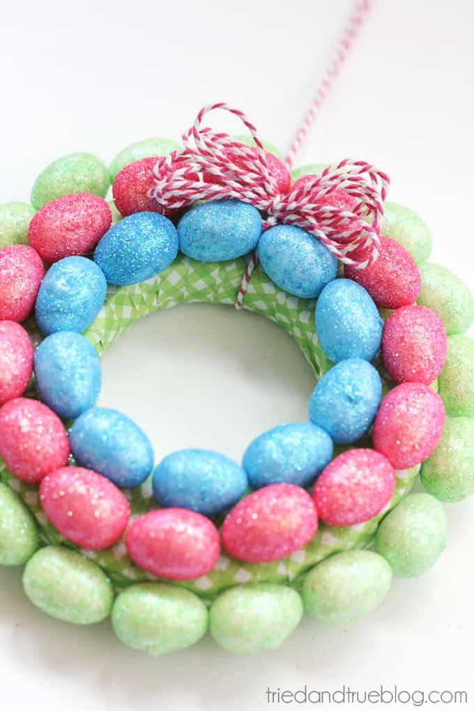 Easy Easter Egg Wreath for Kids - Hang!