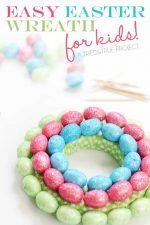 Easy Easter Egg Wreath for Kids
