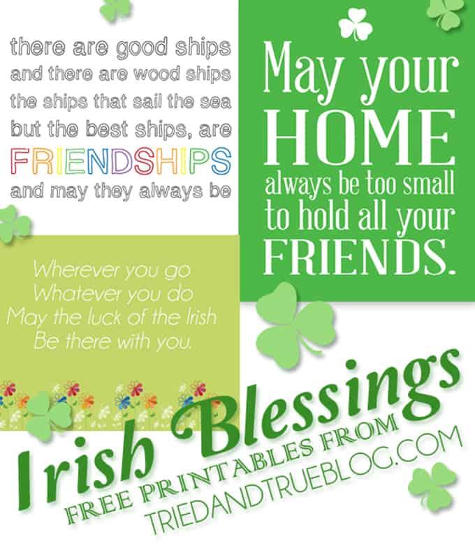 Irish Blessings Free Printables - A Tried & True Print