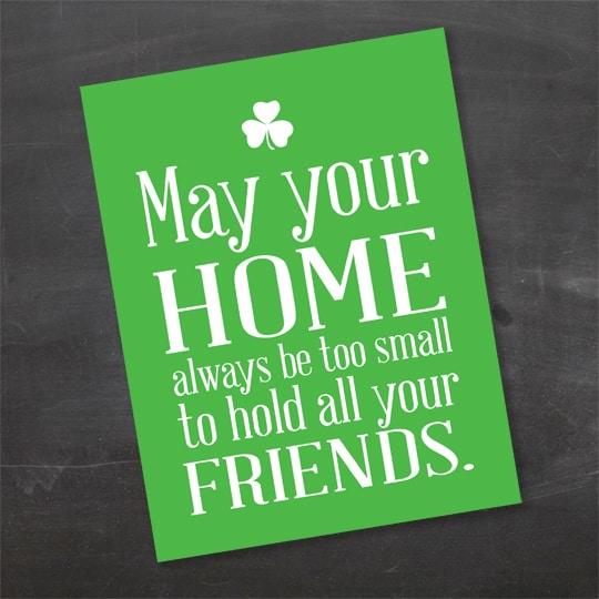 Irish Blessings Free Printables - Friends 2