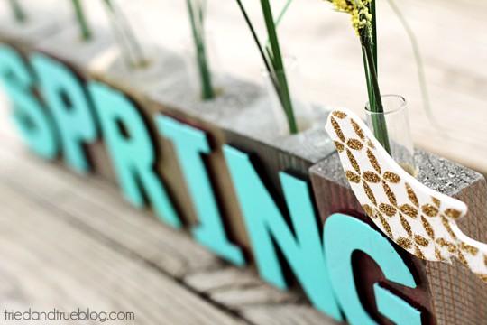 Spring Bud Vase - Bird