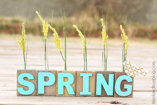 Spring Bud Vase - Happy Spring!