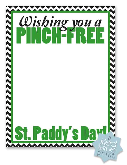 St. Paddy's Day Pinch Free Card - Gift Card