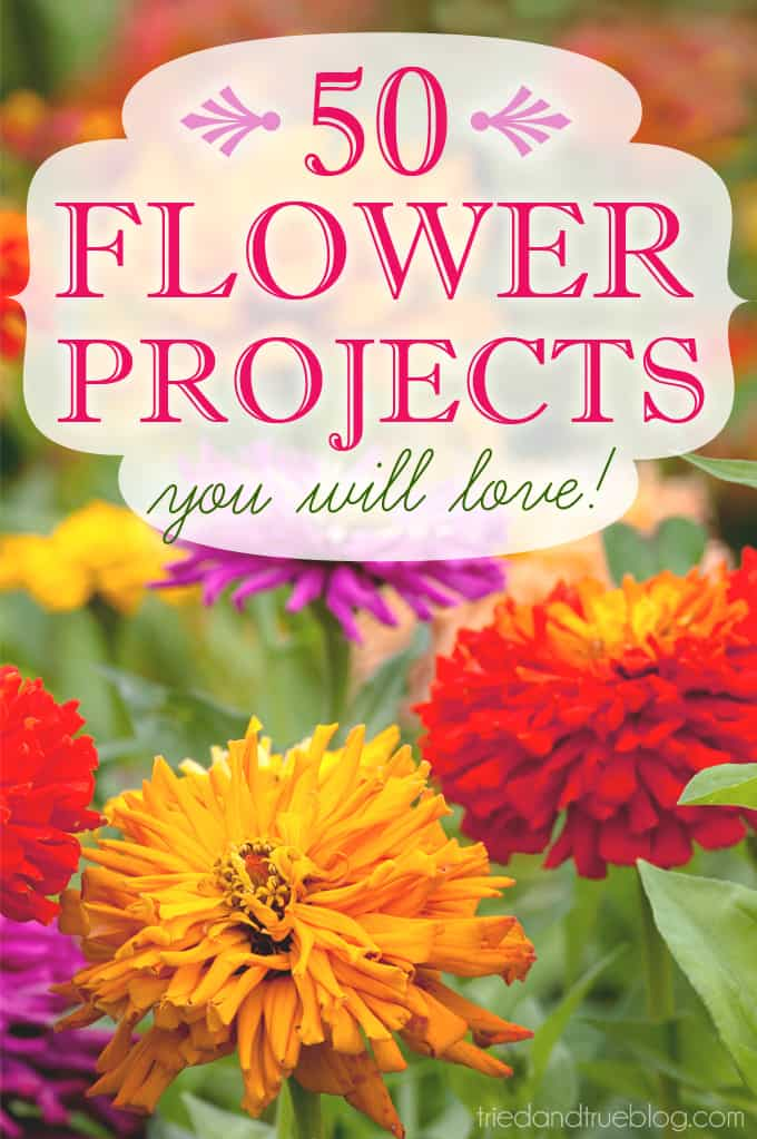 50 Flower Projects You Will Love - from Tried & True and friends!