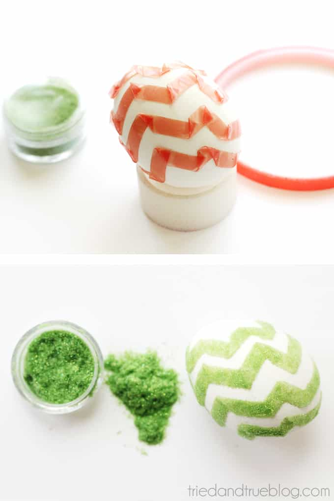 Decorating Easter Eggs with Flocking - Green Zig