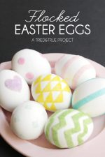 Decorating Easter Eggs with Flocking Powders