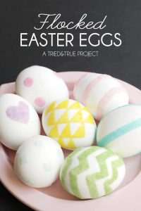 Decorating Easter Eggs with Flocking - A Tried & True Project