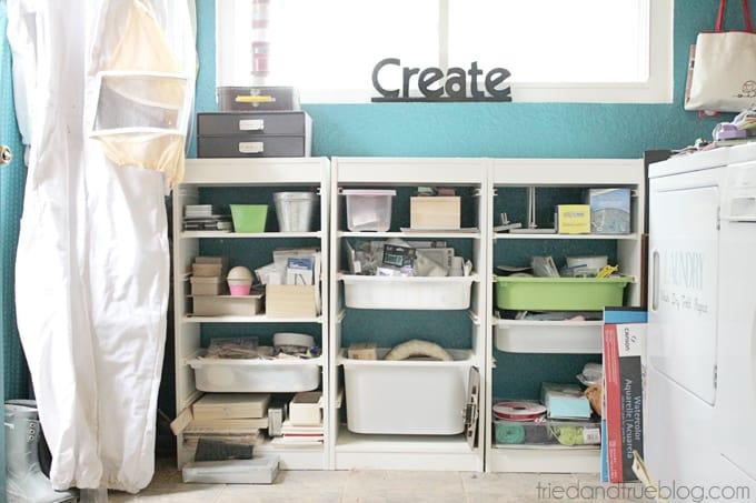 Tried & True's Teeny Tiny Craft Room Tour - Laundry Room