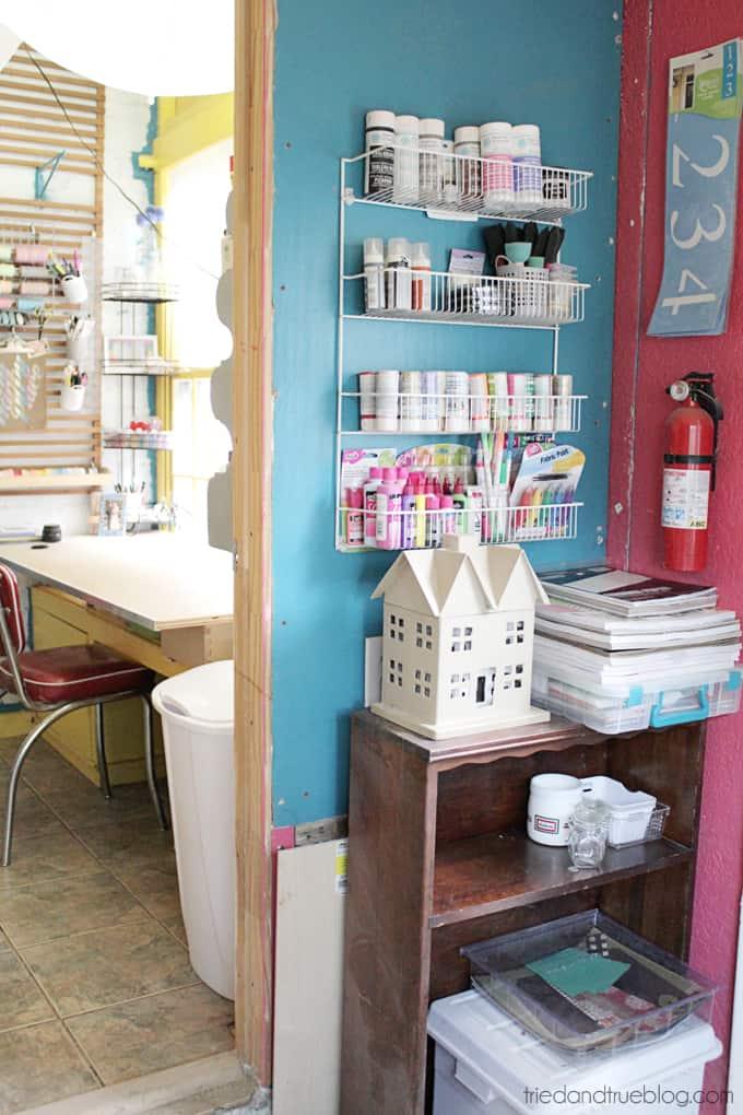 Tried & True's Teeny Tiny Craft Room Tour - Paint Wall