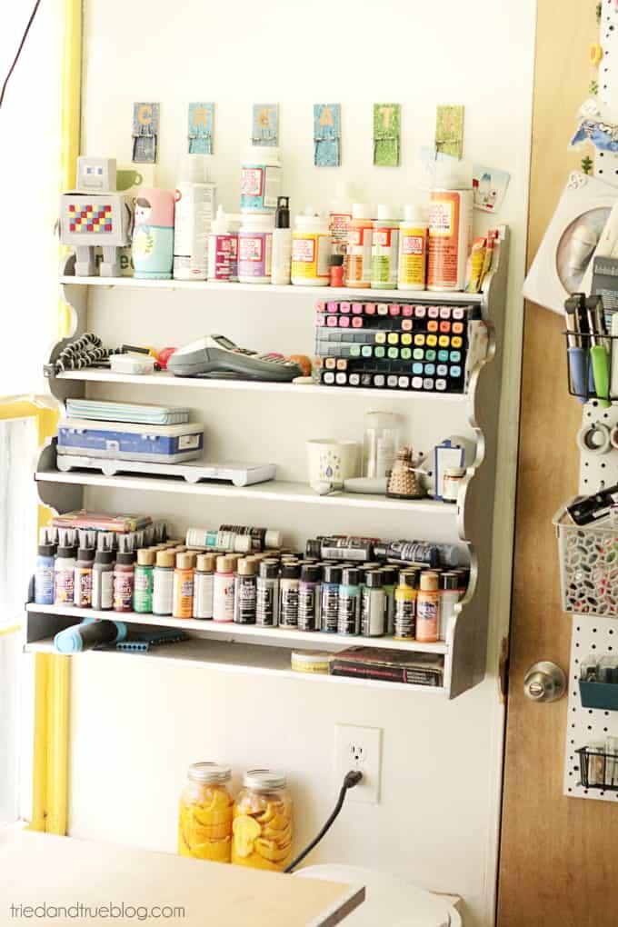 Tried & True's Teeny Tiny Craft Room Tour - Shelves
