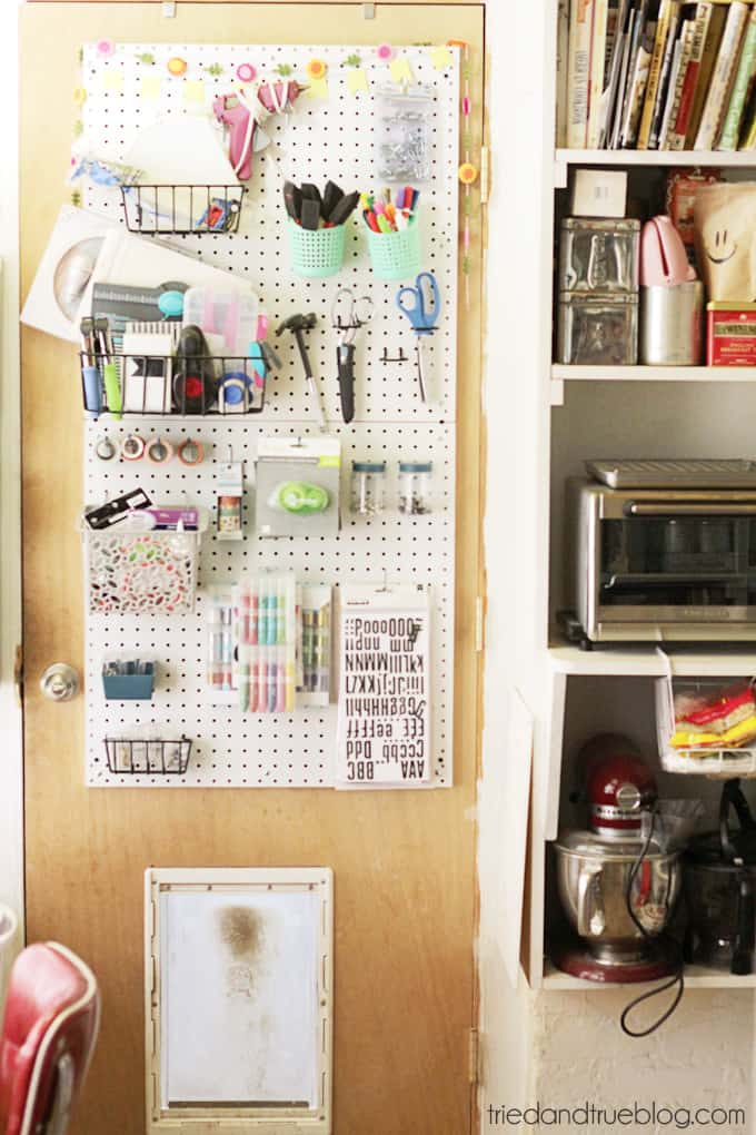 Tried & True's Teeny Tiny Craft Room Tour - Pegboard