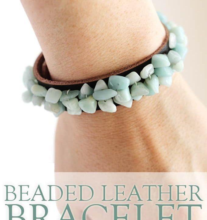 Beaded Leather Bracelet DIY - A Tried & True Project