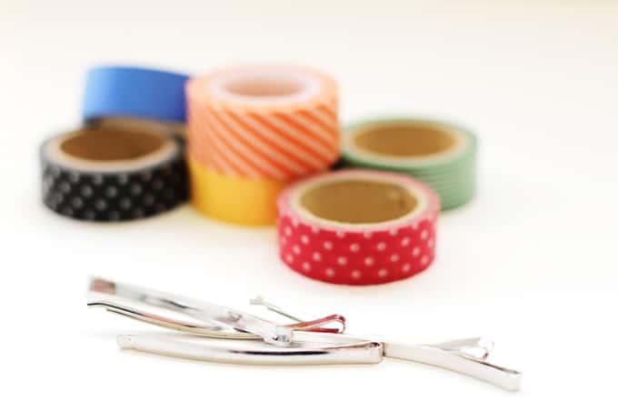 Washi Tape Hair Pins - Supplies