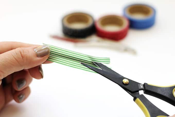 Washi Tape Hair Pins - Trim Tape