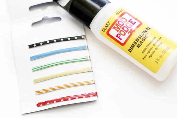 Washi Tape Hair Pins - Apply Dimensional Magic