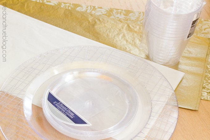 DIY Dollar Store Serving Plates - Supplies