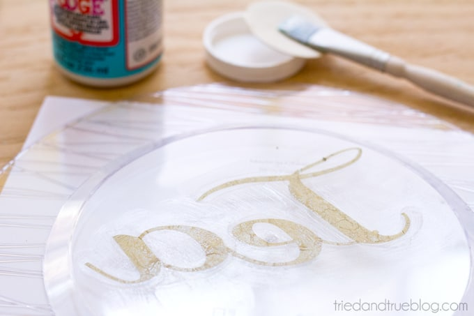 DIY Dollar Store Serving Plates - Tea