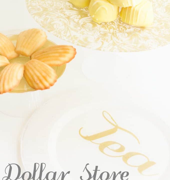 DIY Dollar Store Serving Plates - A Tried & True Project