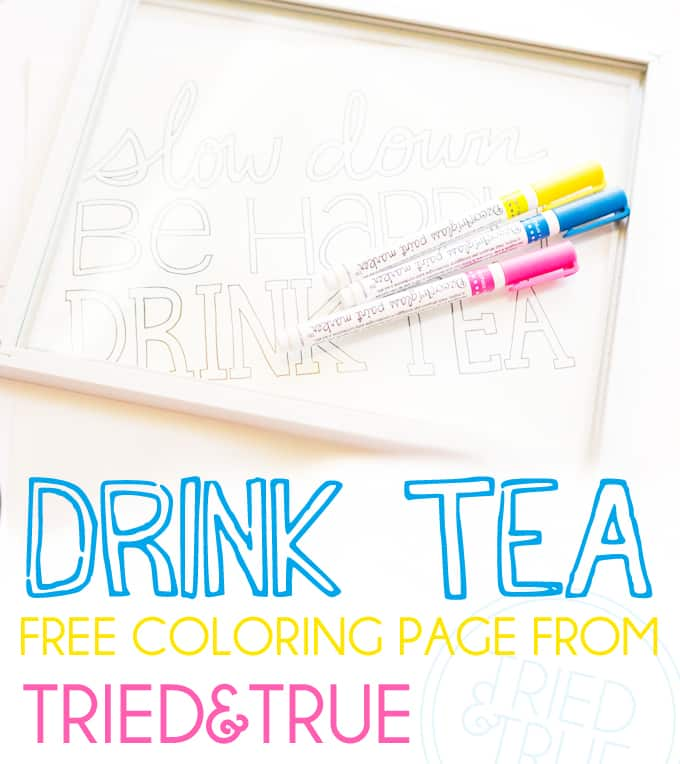 """""""Drink Tea"""" Free Coloring Page - A Tried & True Free Coloring Page"""