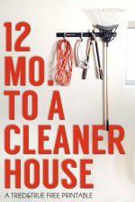 12 Month Cleaning Schedule – Garage!