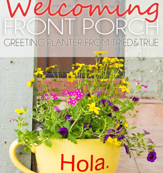 How To Make A Welcoming Front Porch - Greeting Planter from Tried & True