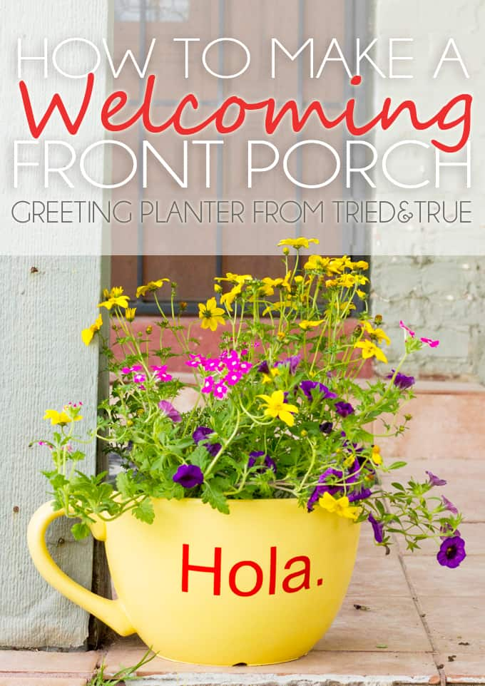 Greeting Front Porch Planter & Silhouette Giveaway