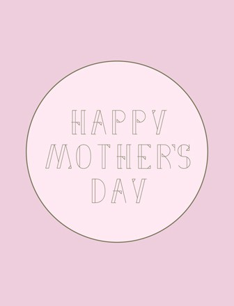 Modern Mother's Day Free Cards - Pink/Brown
