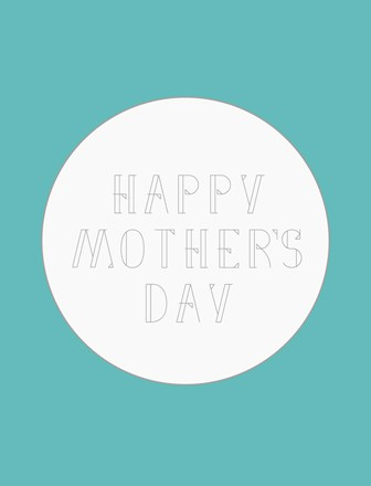Modern Mother's Day Free Cards - Teal/Gray