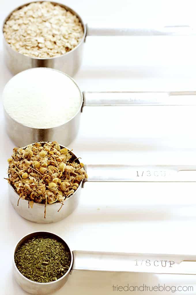 Milk and Tea Bath Soak Party Favors - Materials
