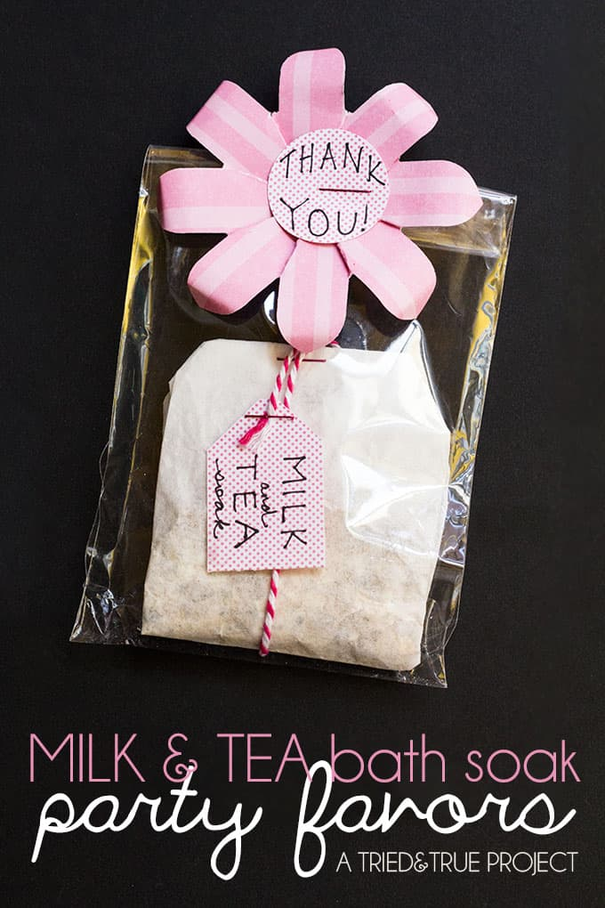 Milk and Tea Bath Party Favors