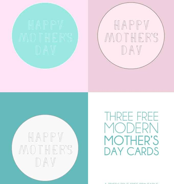 Modern Mother's Day Free Cards - A Tried & True Free Printable