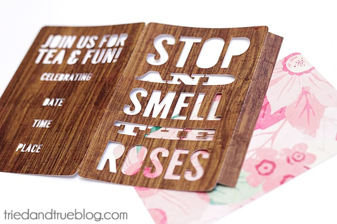 """""""Smell The Roses"""" Tea Party Invite - Cut file"""
