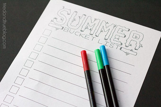Summer Bucket List - Print