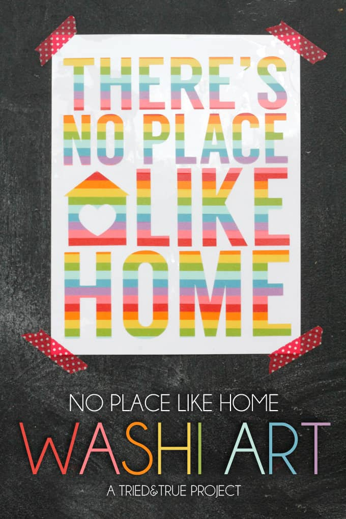 There's No Place Like Home Art - A Tried & True Project