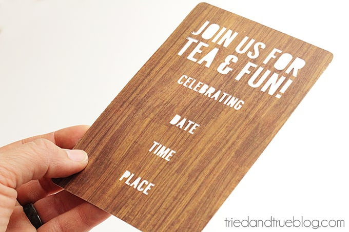 """""""Smell The Roses"""" Tea Party Invite - Back"""