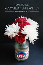 Recycled 4th of July Centerpieces