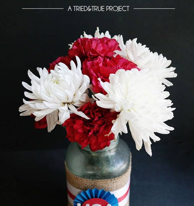 Recycled 4th of July Centerpieces - A Tried & True Project