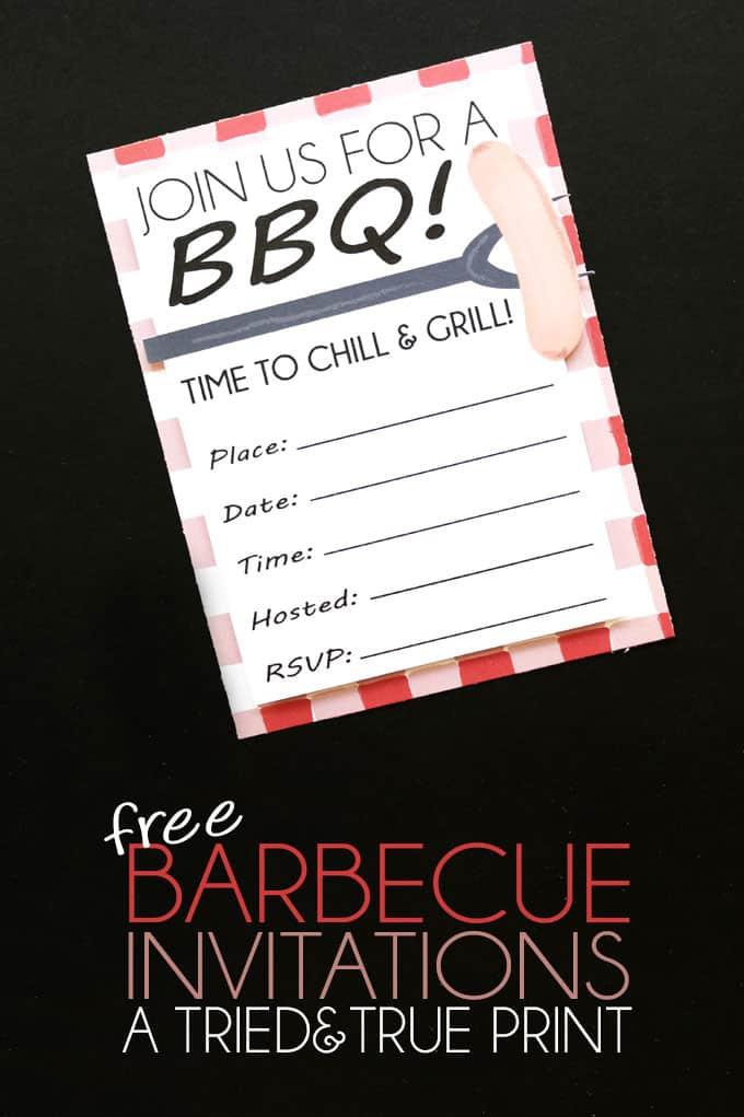 free bbq invitations tried true