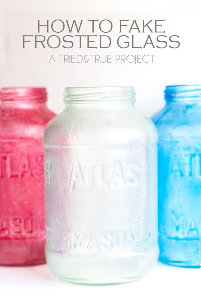 How To Fake Frosted Glass - A Tried & True Project