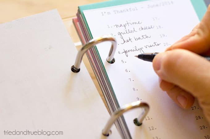 Gratitude Journal - Writing