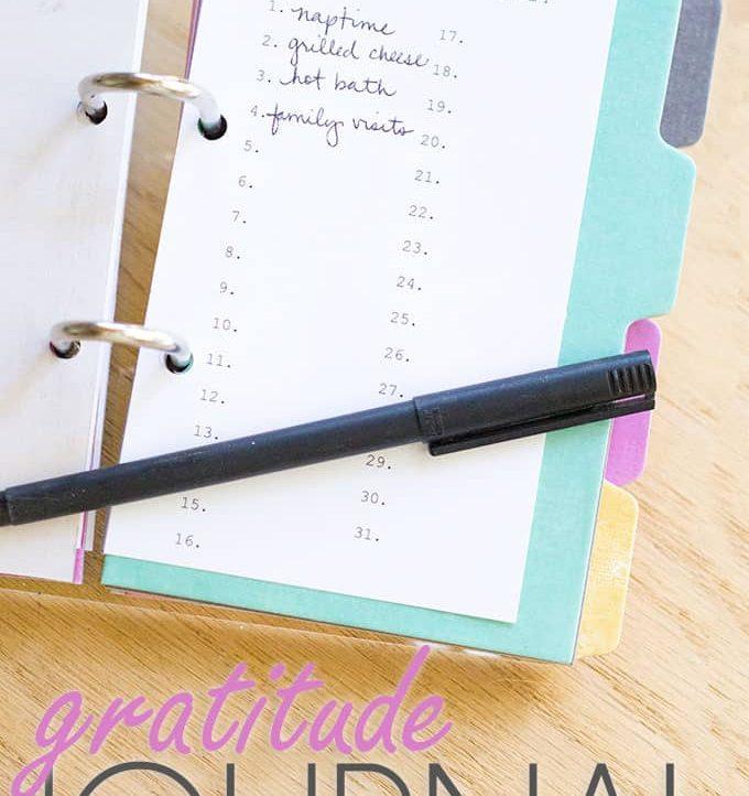 Gratitude Journal - A Tried & True Project