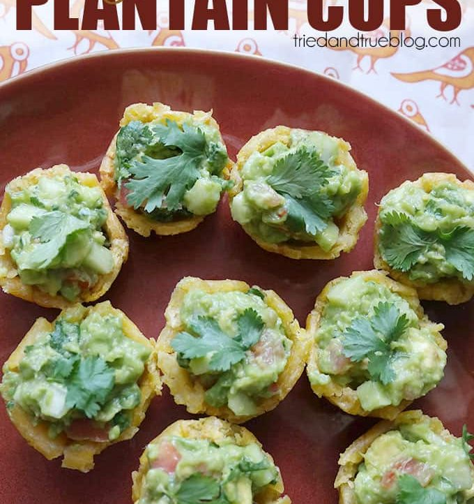 Chayote Guacamole Plantain Cups - The perfect appetizer!