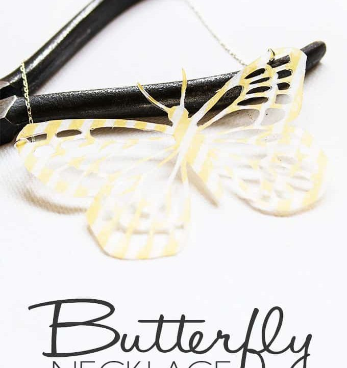 DIY Butterfly Necklace - Perfect addition to your Summer wardrobe!