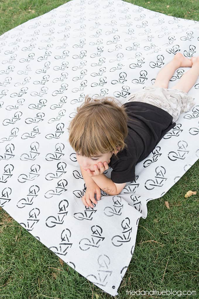 Travel Picnic Blanket - Perfect for laying out on
